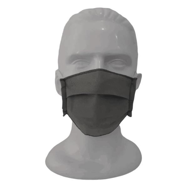 10 tapabocas tela quirúrgica gris o blanco