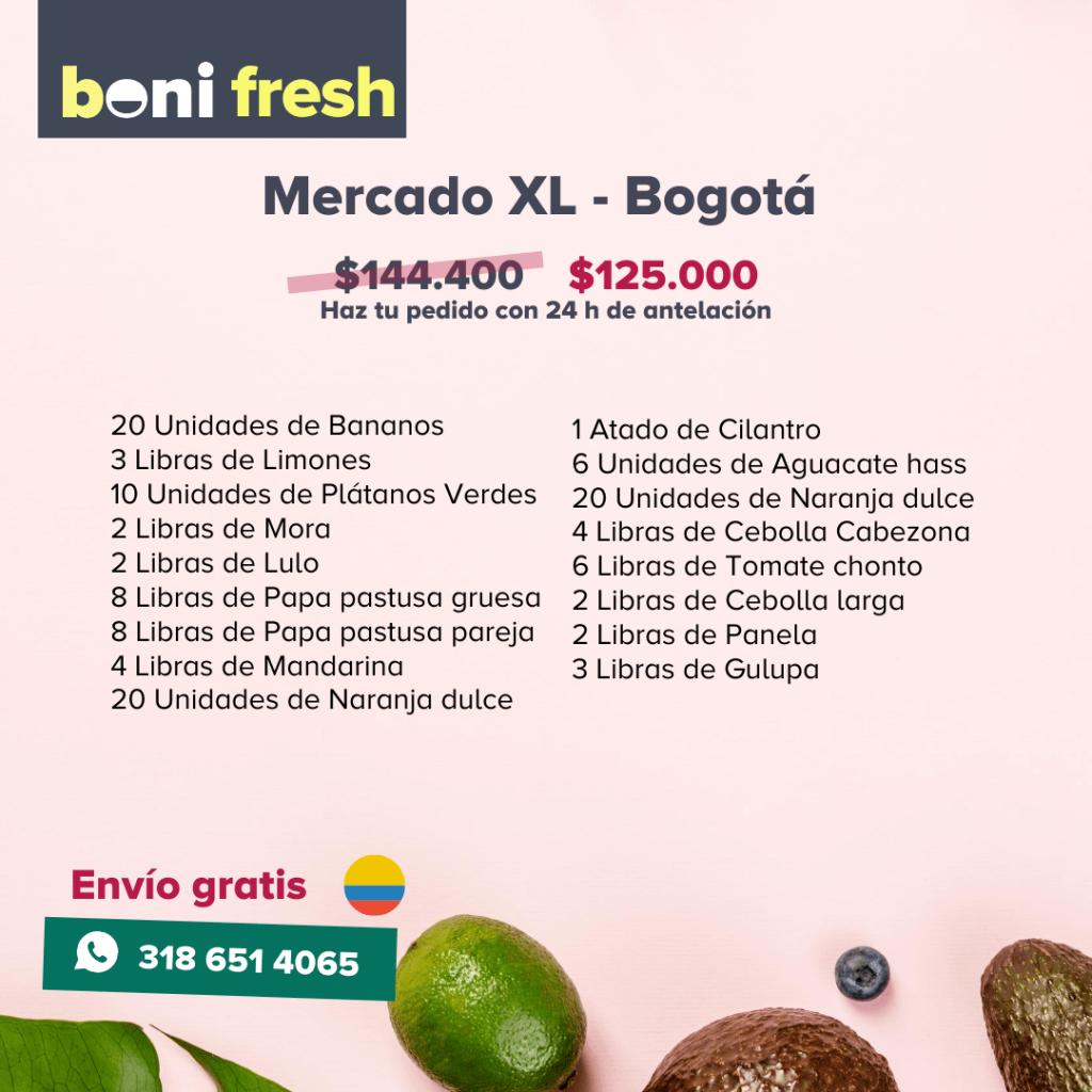 mercado xl Bogota Boni.com.co