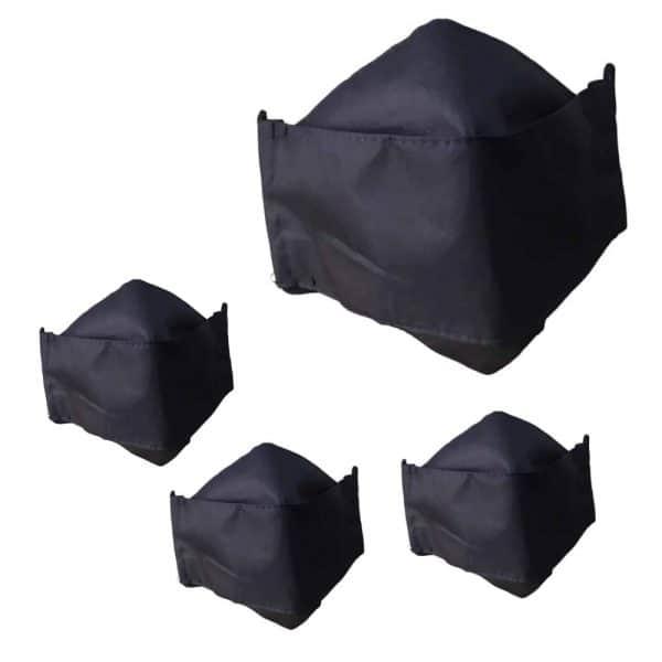 Lleva 4 paga 2 Tapabocas Ejecutivos modelo 3D Antifluido Lavable 3 Capas Negro