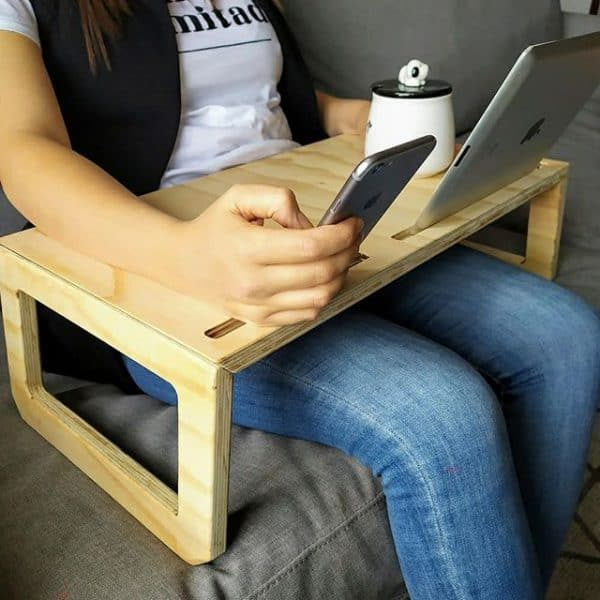 Mesa para Computador Portátil o Laptop - Trabajo en Cama - Plegable en Madera