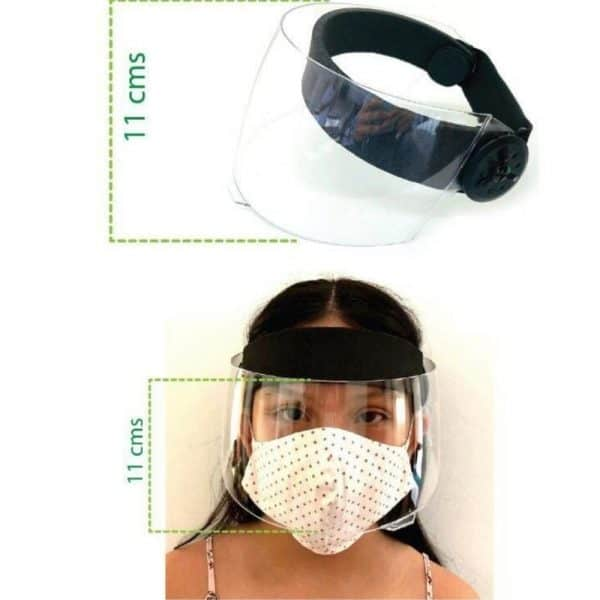 2x1 Careta visor para niños/as con protección UV