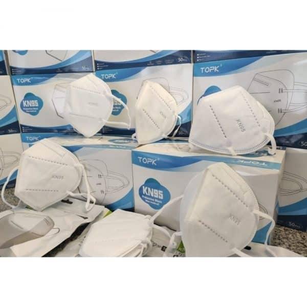 Lleva 50 Paga 25 Tapabocas N95 de 5 capas Blanco INVIMA | Empaque individual  - Unidad $2798