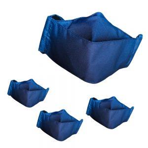 2x1: Lleva 4 paga 2  Tapabocas Ejecutivos Antifluido Lavables 3 capas color azul | Clip Metálico Nasal