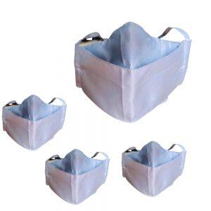 2x1: Lleva 4 paga 2 Tapabocas Ejecutivos Antifluido Lavables 3 capas color gris | Clip Metálico Nasal