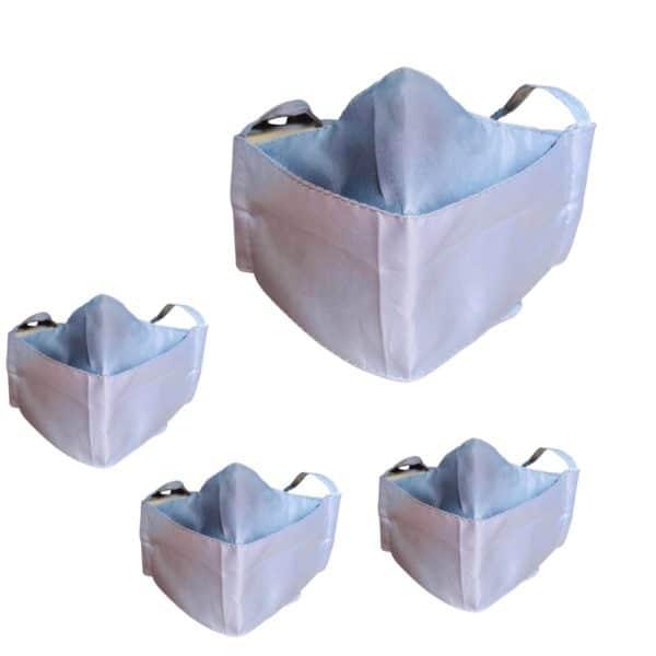 Lleva 4 paga 2 Tapabocas Ejecutivos modelo  3D Antifluido Lavables 3 Capas Gris