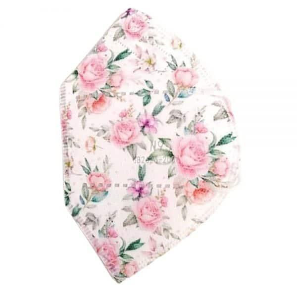 12 Tapabocas N95 con Clip Nasal Estampado Motivo floral | Empaque individual