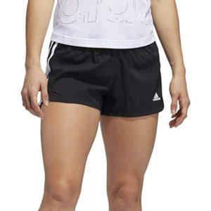 Shorts Mujer Adidas Woven Pacer 3 Bandas Black | Original