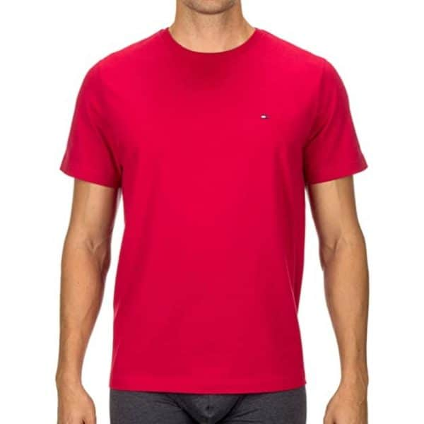 Camiseta Hombre Tommy Hilfiger Cuello Redondo Fucsia | Original