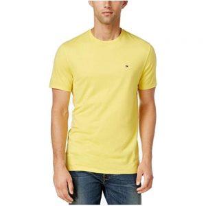 Camiseta Hombre Tommy Hilfiger Strech Round Neck Yellow | Original