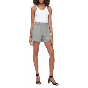 "Shorts Calvin Klein Woman Gauze Smock Waist 4"" Olive  | Original"