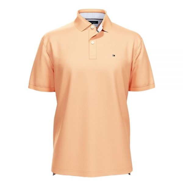 Polo Hombre Tommy Hilfiger Solid Classic Fit Ivy Canteloupe | Original