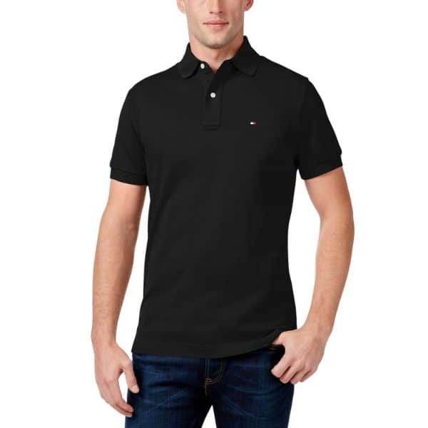 Polo Hombre Tommy Hilfiger Classic Fit Ivy Tommy Black   Original