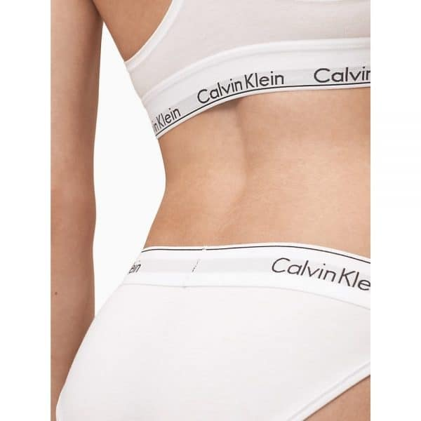 Panty Mujer Calvin Klein Modern Bikini White   Original