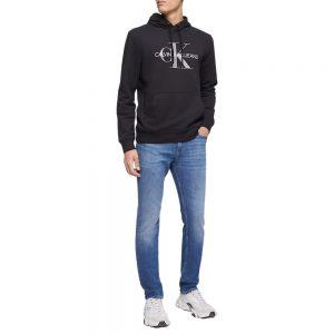 Hoodie Hombre Calvin Klein Monogram Logo con Capota Negra | Original