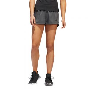Shorts Mujer Adidas Woven Pacer 3 Stripes Grey | Original