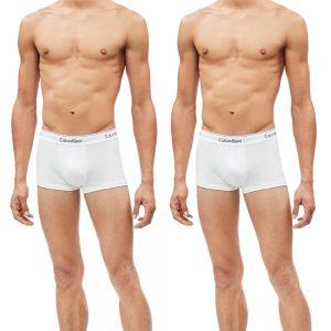 2 Pack Boxer Masculino Calvin Klein Trunk Cotton Stretch White | Original