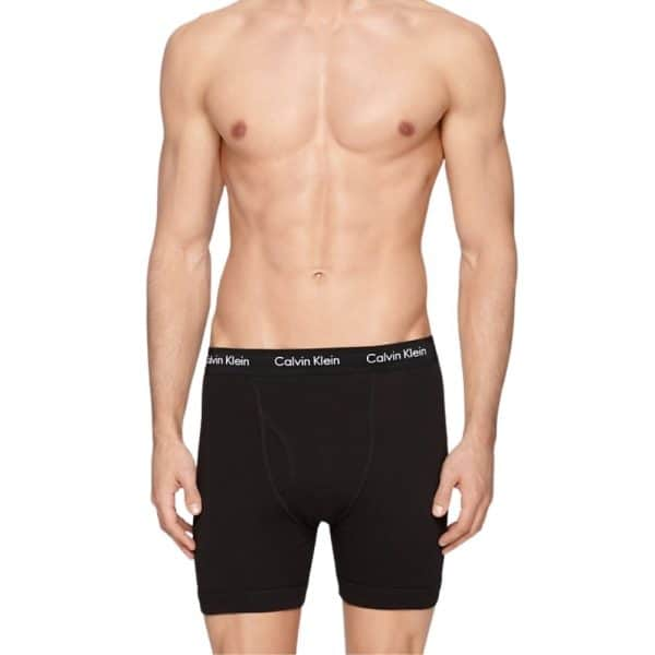 Pack 3 Bóxer Hombre Calvin Klein Brief Cotton Stretch Black | Original