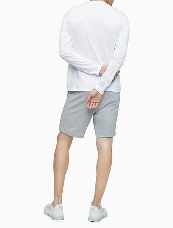 Buso Calvin Klein Active Logo Graphic Long Sleeve Tee White | Original
