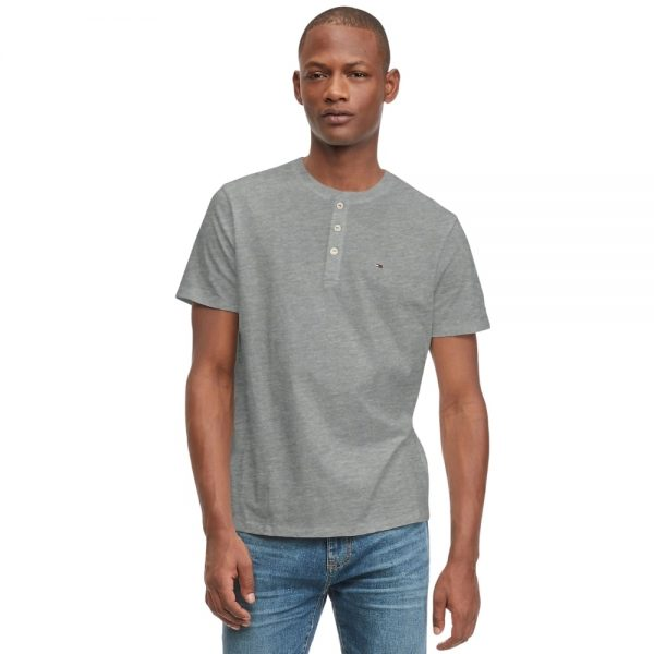 Camiseta Hombre Tommy Hilfiger Essential Henley Grey Heather   Original