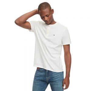 Camiseta Hombre Tommy Hilfiger Essential Henley White   Original