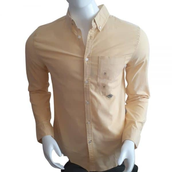 Camisa Manga Larga Hombre Tommy Hilfiger Custom Fit Essential Solid Yellow | Original