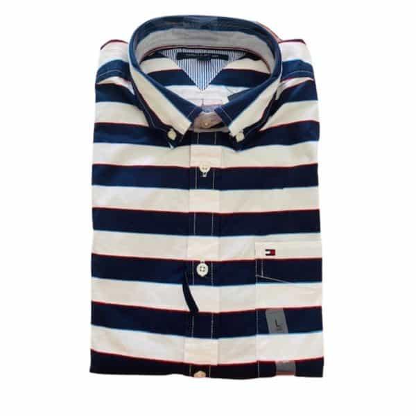 Camisa Manga Larga Hombre Tommy Hilfiger Custom Fit Essential Stripes | Original