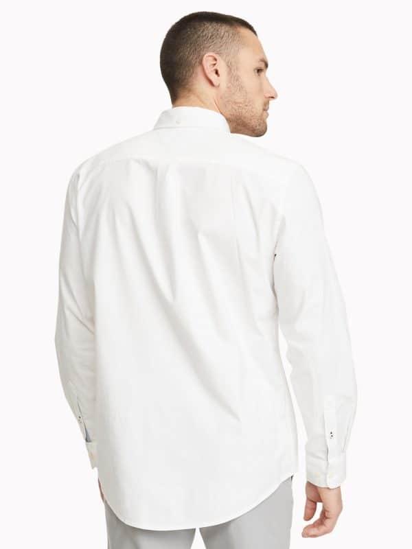 Camisa Manga Larga Hombre Tommy Hilfiger Custom Fit Essential Solid White | Original