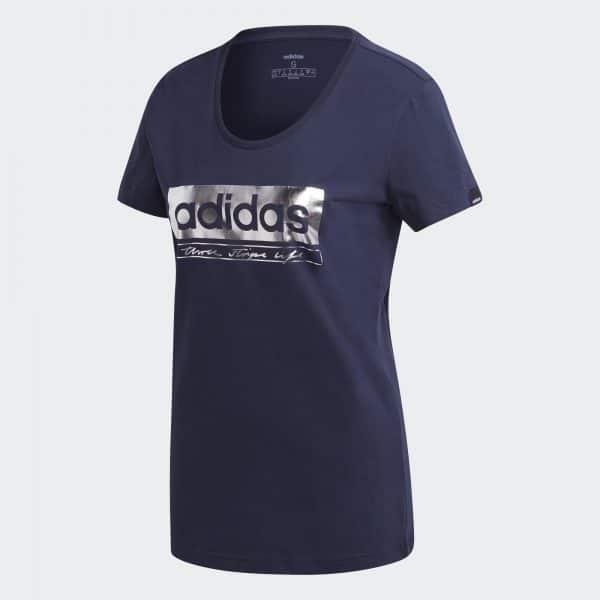 Camiseta Mujer Adidas Foil Graphic Tee Navy | Original