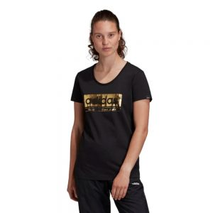 Camiseta Mujer Adidas Foil Graphic Tee Black | Original