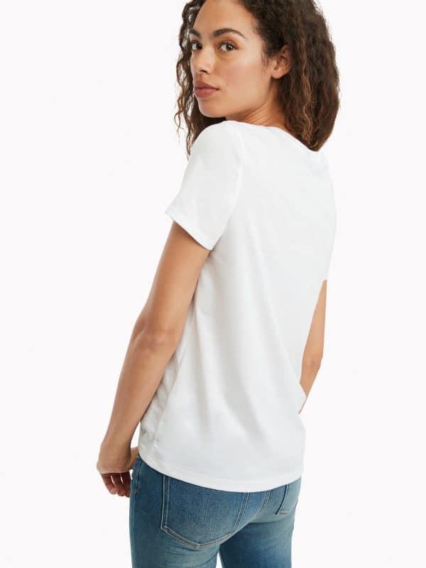 Camiseta Mujer Tommy Hilfiger T-Shirt Essential Logo White | Original