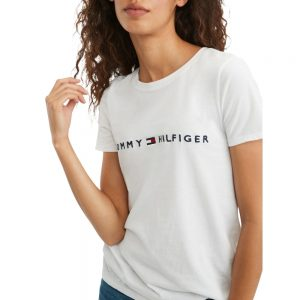Camiseta Mujer Tommy Hilfiger T-Shirt Essential Logo White | Original