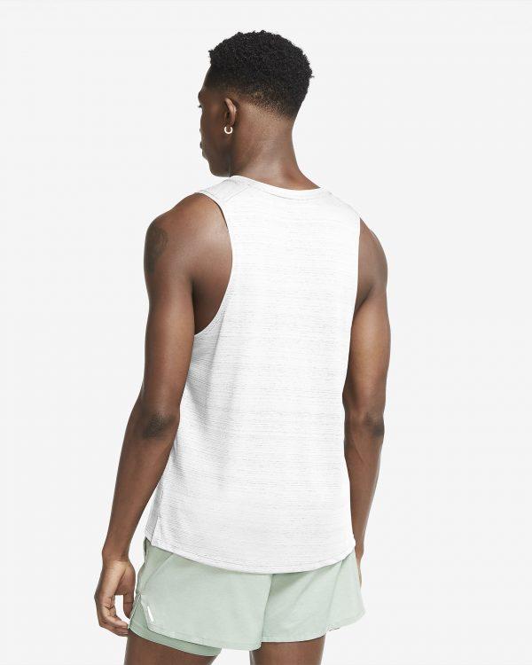 Camiseta Hombre Nike Men's Dri Fit Miler Sin Manga Force White | Original