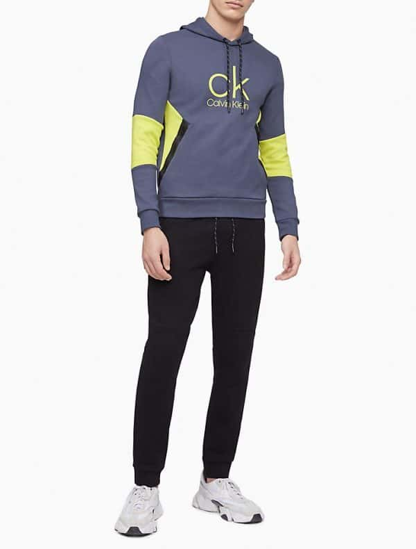 Hoodie Hombre Calvin Klein Scuba Interlock Drawstring Grey - Green | Original