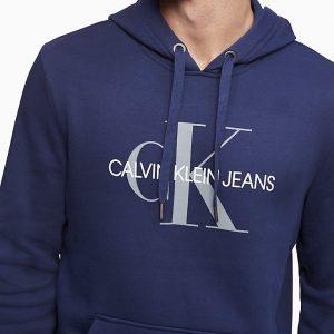 Hoodie Hombre Calvin Klein Monogram Logo Fleece Peatcoat | Original