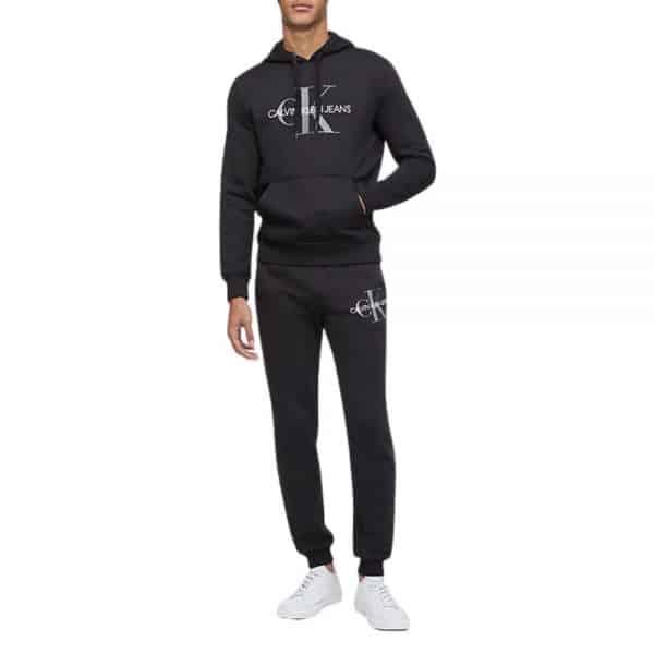 Conjunto Hoodie + Jogger Hombre Calvin Klein Monogram Logo Fleece | Original