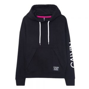 Hoodie Mujer Calvin Klein Performance Logo Oversized Pocket Black | Original