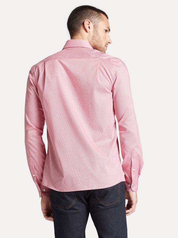 Camisa Manga Larga Hombre Tommy Hilfiger Slim Fit Stretch Cotton Pink | Original