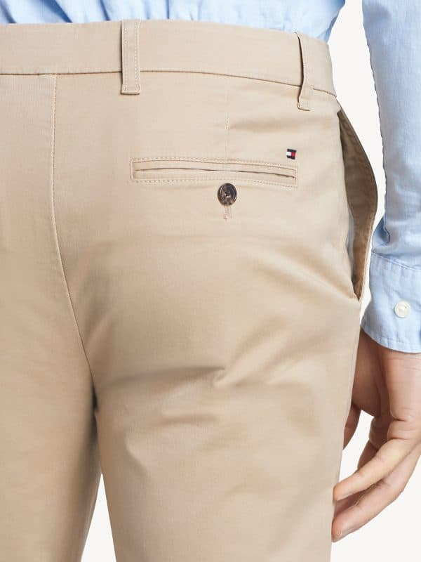 Pantalón Hombre Tommy Hilfiger Essential Chino Slim Fit Stretch Beige | Original
