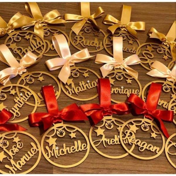 2x1 Total 8 Pines Navideños Personalizados para tu arbolito   2 Cajas