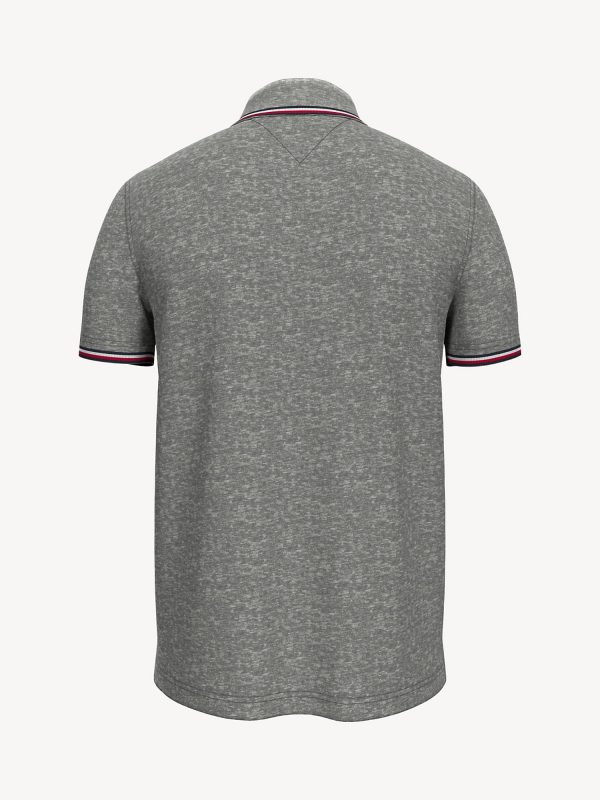 Polo Hombre Tommy Hilfiger Custom Fit Essential Performance Grey | Original