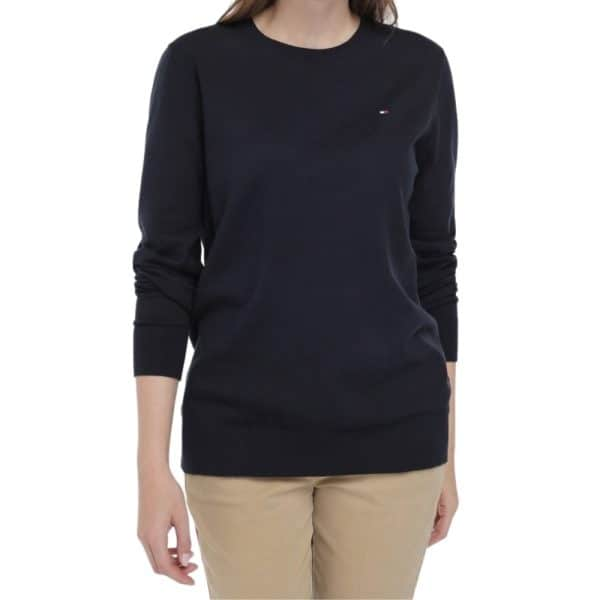 Saco Mujer Tommy Hilfiger Essential Scoop Neck Sweater Masters Navy | Original