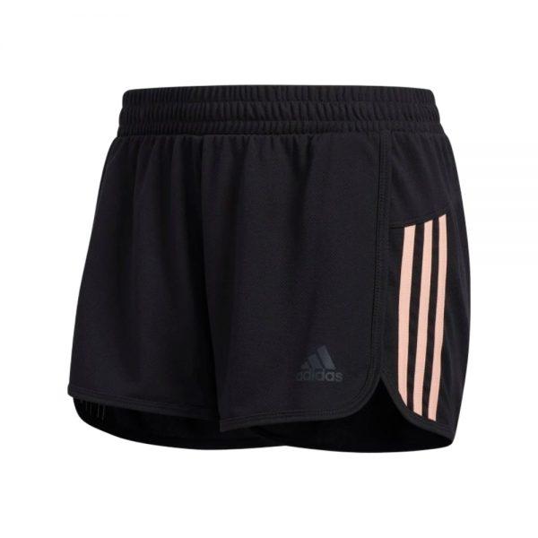 Shorts Adidas Woven Pacer 3 Bandas Black Glow Pink | Original