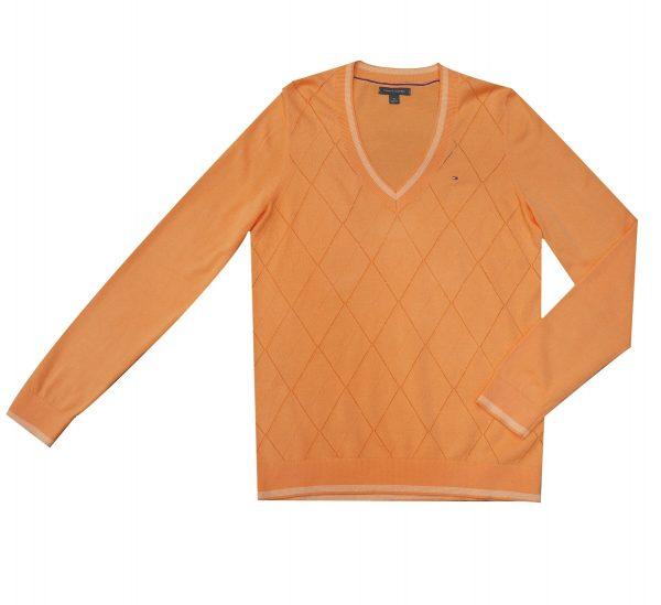 Saco Mujer Tommy Hilfiger Essential Sweater V Neck Argyle  | Original