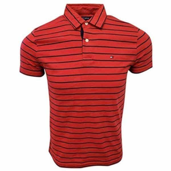Polo Hombre Tommy Hilfiger Stripes Black Cotton Red | Original