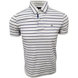 Polo Hombre Tommy Hilfiger Stripes Navy Cotton White | Original