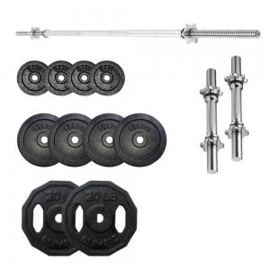 Kit 60 libras - Mancuernas cromadas y discos de hierro