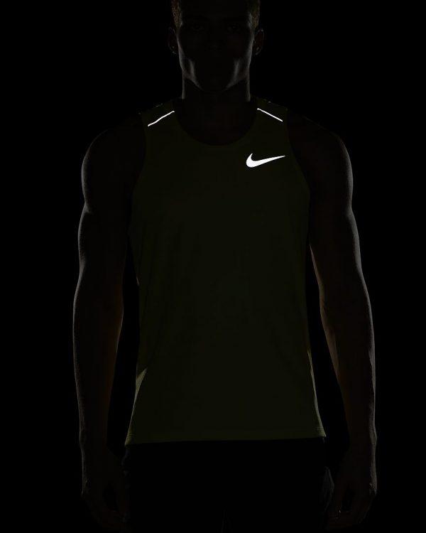 Camiseta Hombre Nike Men's Dri Fit Miler Sin Manga Force Lime Light | Original