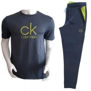 Conjunto Hoodie + Jogger Hombre Calvin Klein Scuba Interlock Drawstring Grey - Green | Original