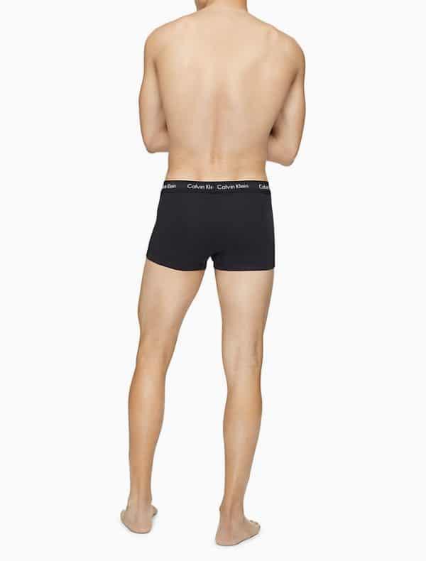 Pack 3 Boxer Hombre Calvin Klein Low Rise Trunk Cotton Stretch Black   Original