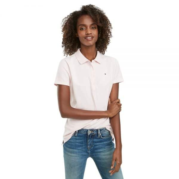Polo Mujer Tommy Hilfiger Regular Fit Essential Stretch Pink | Original